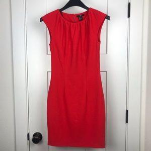 H&M red cap sleeve dress